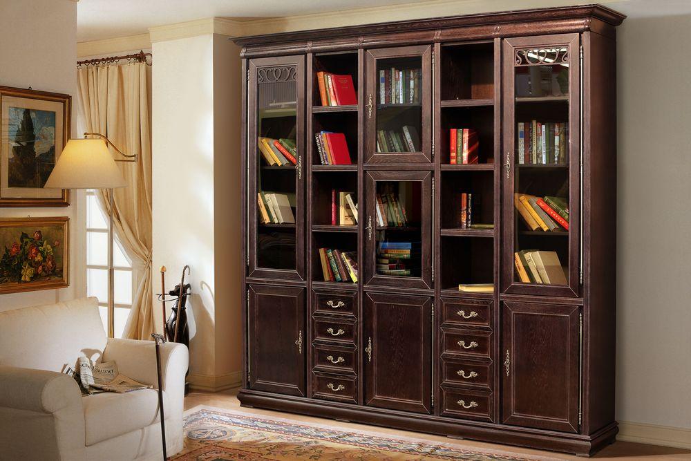 Набор мебели для библиотеки оскар мм-218-25 в москве - интер.